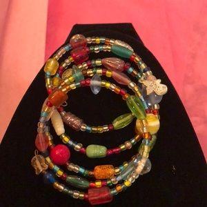 Stackable bead bracelet